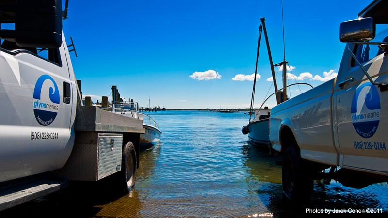 Nantucket Boat Hauling and Launching at Glyn's Marine